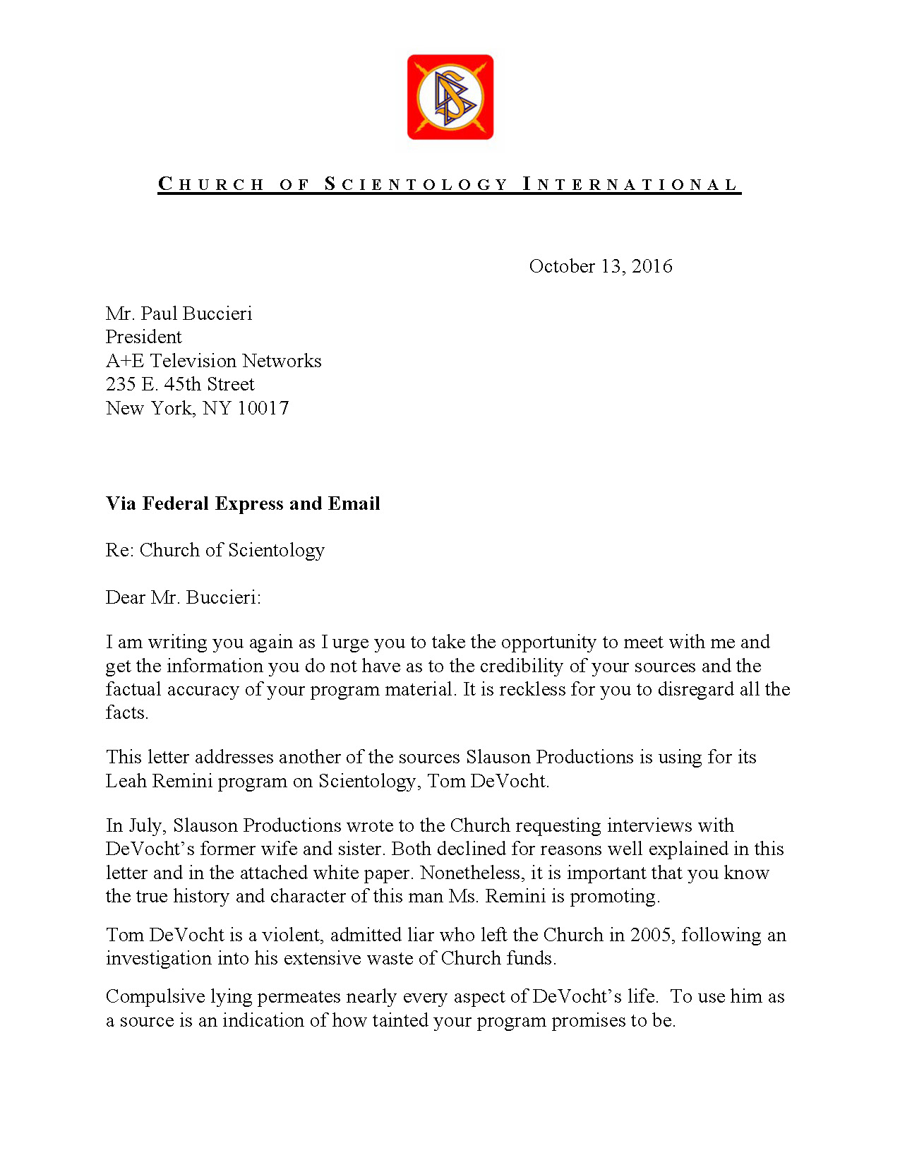 Letter from csi to ae networks re tom devocht thecheapjerseys Gallery